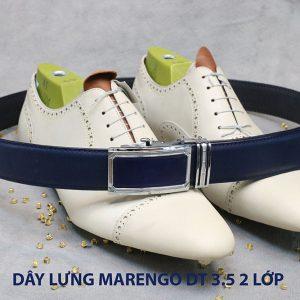 bán dây nịt thắt lưng nam 2 lớp da bò cao cấp Marengo 006