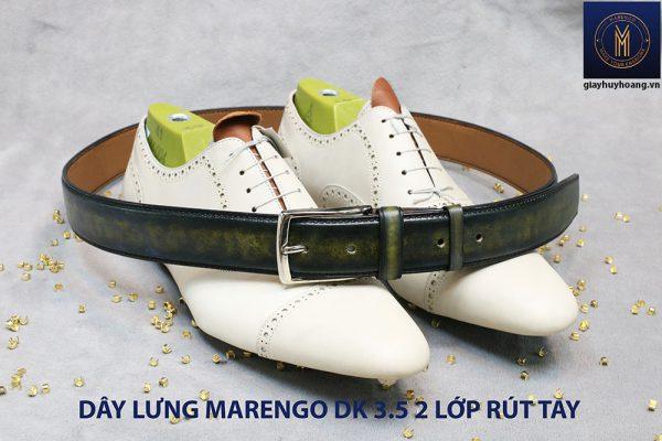Dây nịt thắt lưng rút tay nam đầu kim 2 lớp Marengo 004