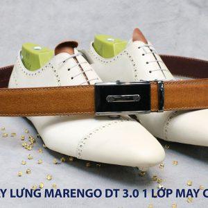 Dây nịt nam đầu tăng Marengo 1 lớp da bò 007