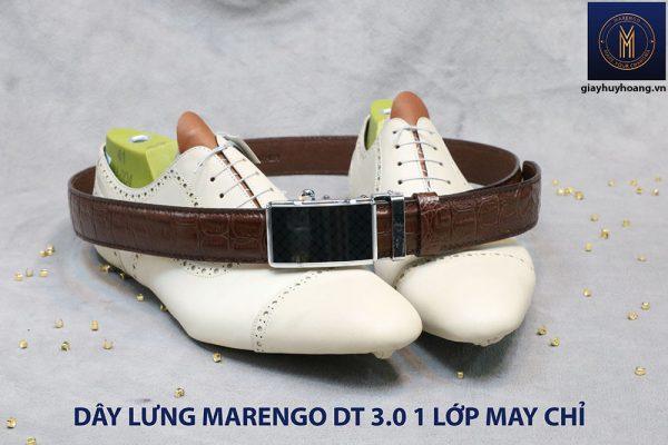 Dây nịt nam đầu tăng Marengo 1 lớp da bò 00111