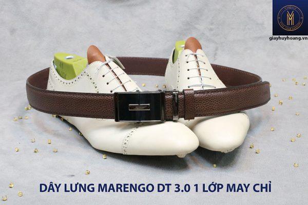 Dây nịt nam đầu tăng Marengo 1 lớp da bò 0018