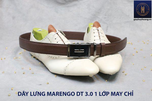 Dây nịt nam đầu tăng Marengo 1 lớp da bò 0017