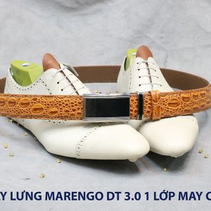 Dây nịt nam đầu tăng Marengo 1 lớp da bò 0015