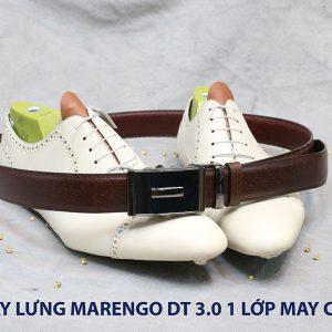 Dây nịt nam đầu tăng Marengo 1 lớp da bò 0014