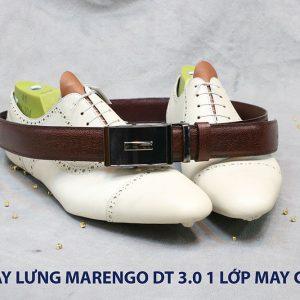 Dây nịt nam đầu tăng Marengo 1 lớp da bò 0012
