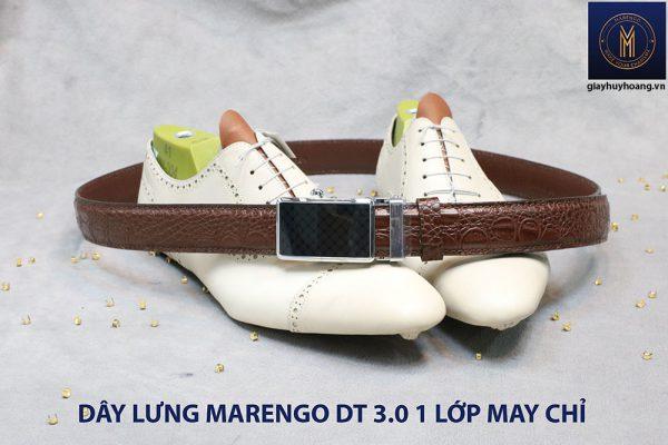 Dây nịt nam đầu tăng Marengo 1 lớp da bò 0010