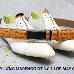 Dây nịt nam đầu tăng Marengo 1 lớp da bò 005
