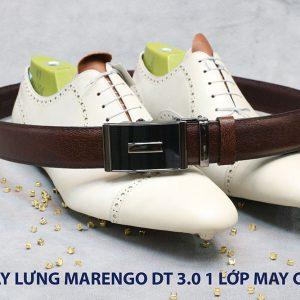 Dây nịt nam đầu tăng Marengo 1 lớp da bò 004