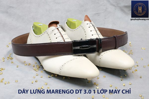 Dây nịt nam đầu tăng Marengo 1 lớp da bò 001