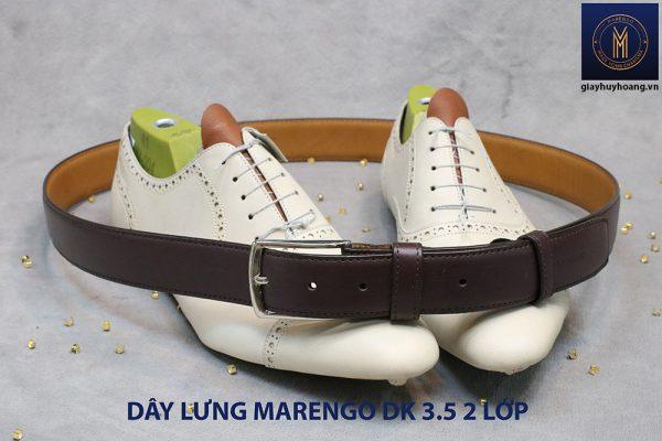 Dây thắt lưng nam đầu kim da bò 2 lớp Marengo 0014