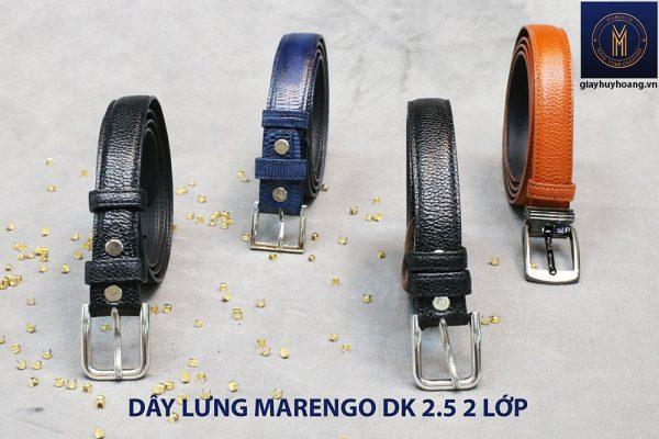 Dây thắt lưng nam đầu kim da bò 2 lớp Marengo 003