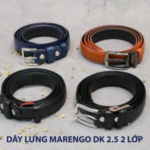 Dây thắt lưng nam đầu kim da bò 2 lớp Marengo 002