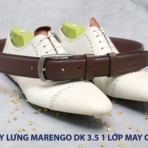 Dây nịt thắt lưng nam Marengo da bò 1 lớp 010