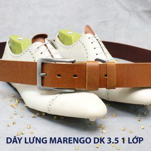Dây nịt thắt lưng nam Marengo da bò 1 lớp 005
