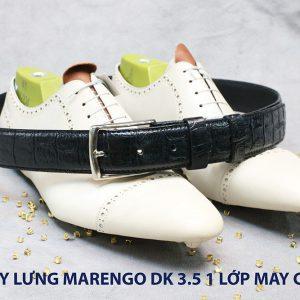Dây nịt thắt lưng nam Marengo da bò 1 lớp 008
