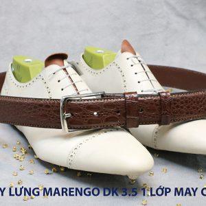 Dây nịt thắt lưng nam Marengo da bò 1 lớp 007