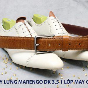 Dây nịt thắt lưng nam Marengo da bò 1 lớp 006
