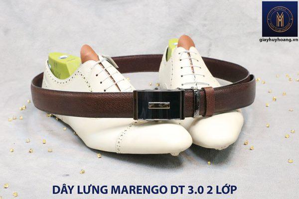 bán dây nịt thắt lưng nam 2 lớp da bò cao cấp Marengo 003