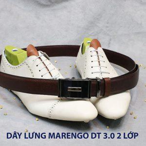 bán dây nịt thắt lưng nam 2 lớp da bò cao cấp Marengo 002