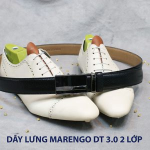 bán dây nịt thắt lưng nam 2 lớp da bò cao cấp Marengo 001
