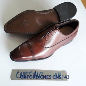 Giày tây nam mũi vuông Oxford CNES CNS143 005