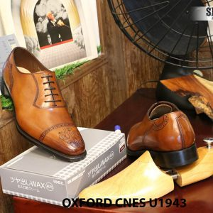 [Outlet] Giày da nam buộc dây Oxford CNES U1943 size 44 004