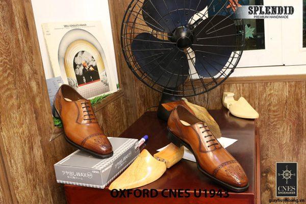 [Outlet] Giày da nam buộc dây Oxford CNES U1943 size 44 003