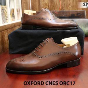 [Outlet] Giày da nam đẹp Oxford CNES ORC29 size 41 002