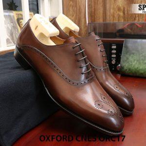 [Outlet] Giày da nam đẹp Oxford CNES ORC29 size 41 001