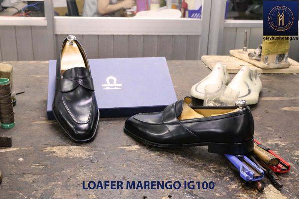 Giày tây lười nam không dây Marengo IG100 006