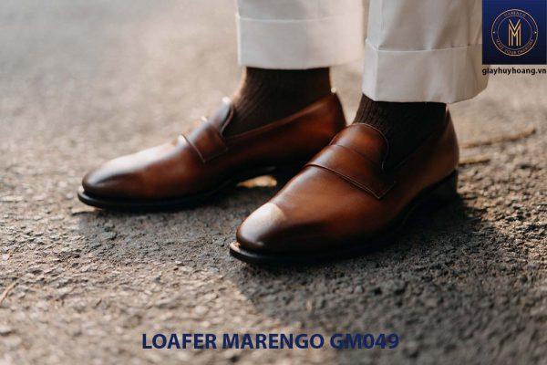 giày lười loafer không dây da bò marengo gm049 001
