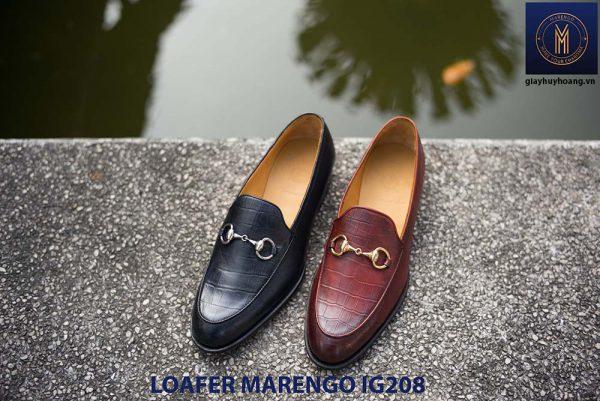 Giày nam không dây loafer Marengo IG208 006