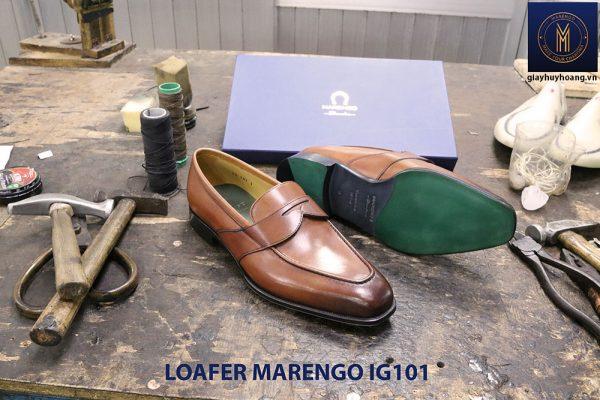 Giày lười nam da bò loafer Marengo IG101 002