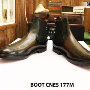 Giày da nam cổ cao Boot CNES 177M size 46 005