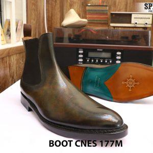 Giày da nam cổ cao Boot CNES 177M size 46 004