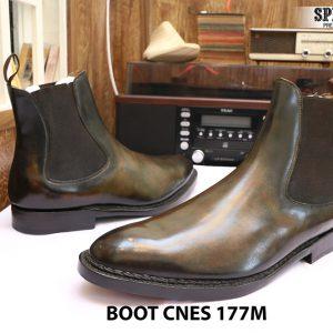 Giày da nam cổ cao Boot CNES 177M size 46 003