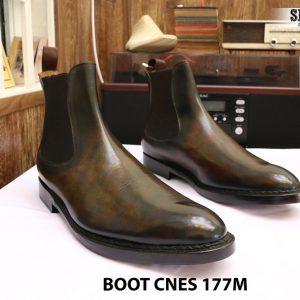 Giày da nam cổ cao Boot CNES 177M size 46 001