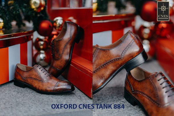 Giày da nam hàng hiệu Oxford CNES Tank884 003