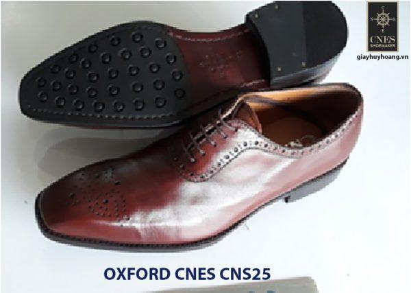 [Outlet] Giày da nam đế cao su Oxford CNES CNES25 002