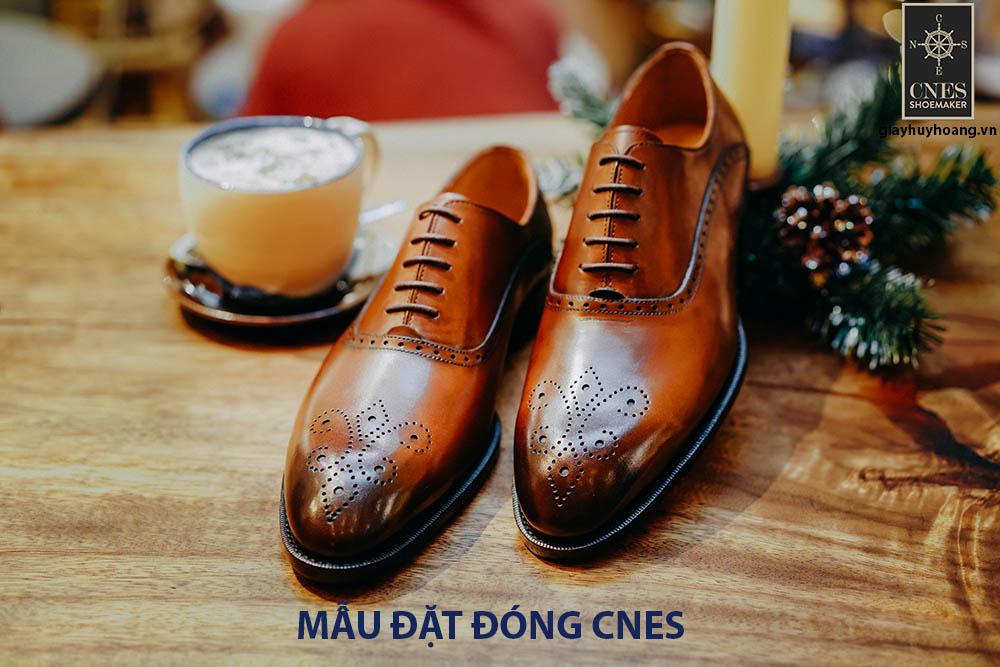 [Outlet] Giày da nam đế cao su Oxford CNES CNES25 001