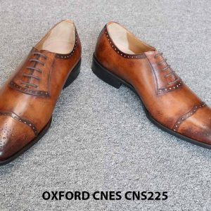 Giày tây nam da đẹp Oxford CNES CNS225 010