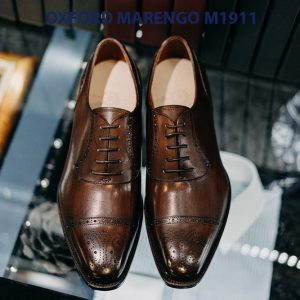 Giày tây nam đế da Oxford Marengo M1911 002