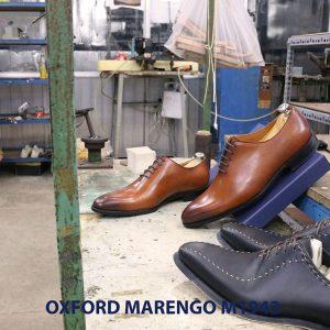 Giày tây nam da trơn Oxford wholecut Marengo M1943 005