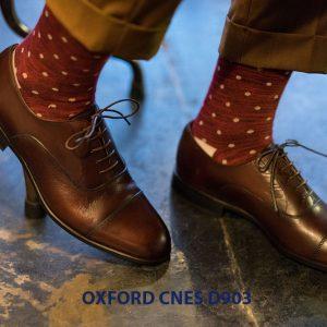 Giày tây nam cột dây đẹp Oxford CNES Oxford 002