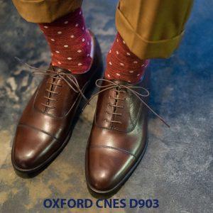 Giày tây nam cột dây đẹp Oxford CNES Oxford 001