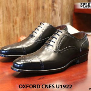 Giày nam mũi vuông Oxford Brogues CNES U1922 size 43 001