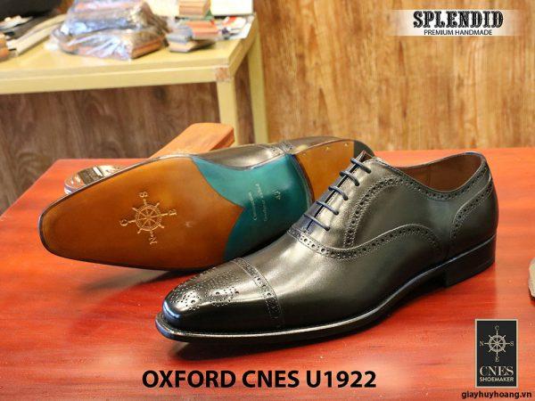 Giày nam mũi vuông Oxford Brogues CNES U1922 size 43 005