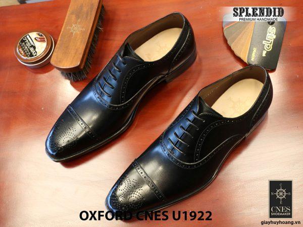 Giày nam mũi vuông Oxford Brogues CNES U1922 size 43 004