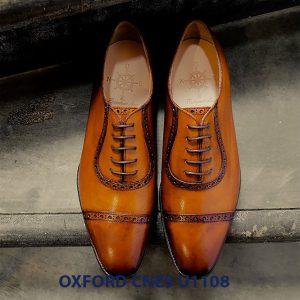 Giày tây nam da bò Oxford CNES U1108 004