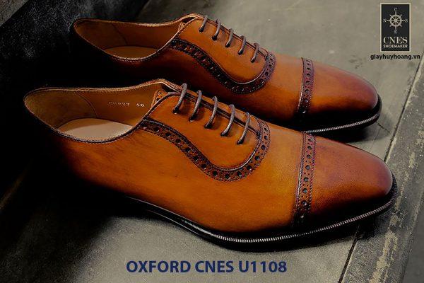 Giày tây nam da bò Oxford CNES U1108 003